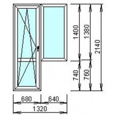 Металопластиковый блок для балкона узкий