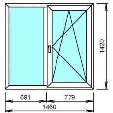 Металопластиковое окно двойное