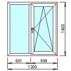 Металлопластиковое окно Стандарт