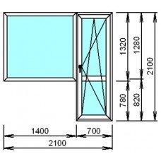 Металопластиковый блок для балкона широкий